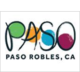 green, orange, blue and purple Paso Robles CA logo